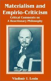 Materialism and Empirio-Criticism
