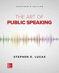 image of The Art of Public Speaking (13th International Edition)