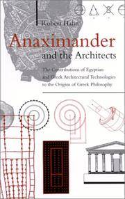 Anaximander and the Architects: The Contributions of Egyptian and Greek Architectural...