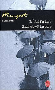 L'Affaire Saint-Fiacre (Ldp Simenon) (French Edition)