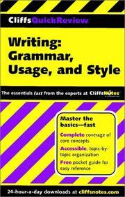Writing: Grammar, Usage, and Style