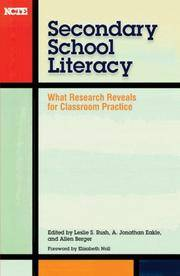 SECONDARY SCHOOL LITERACY: What Research Reveals for Classroom Practice