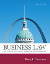 image of Business Law (6th Edition)