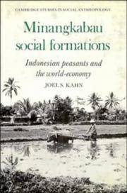 Minangkabau Social Formations: Indonesian Peasants and the World-Economy (Cambridge Studies in...