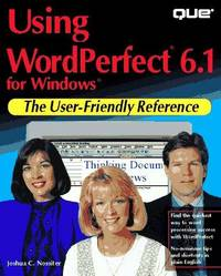 Using Wordperfect 6.1 for Windows