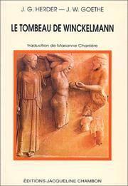 LE TOMBEAU DE WINCKELMANN