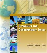 Economics and Contemporary Issues with Economics Applications Card