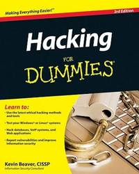 Hacking For Dummies by  Kevin Beaver - Paperback - 2010-01-12 - from Ocean Books (SKU: 093020019)