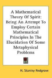 A Mathematical Theory Of Spirit