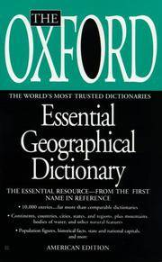 The Oxford Essential Geographical Dictionary (American edition)