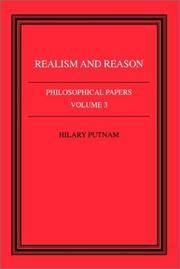Realism and Reason Philosophical Papers Volume 3