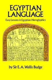 image of Egyptian Language : Easy Lessons in Egyptian Hieroglyphics with Sign List