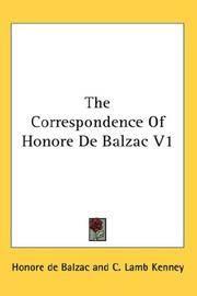 image of The Correspondence of Honore de Balzac V1
