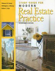Study Guide for Modern Real Estate Practice by  Wellington J  Robert C; Allaway - Paperback - 17th - 2006-06-01 - from paisan626 and Biblio.com