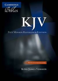 KJV Pitt Minion Reference Bible, Brown Calf Split Leather, Red-letter Text, KJ444:XR