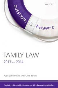 Q & A Revision Guide Family Law 2013 and 2014 (Law Questions & Answers)