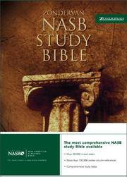 NASB Study Bible, Black [Bonded Leather] Zondervan; Barker, Kenneth L.; Burdick, Donald W.; Stek,...