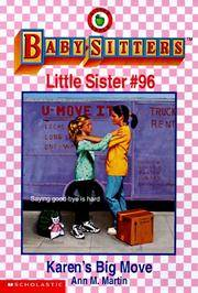 image of Karen's Big Move: Baby-Sitters Little Sister #96 [babysitters]