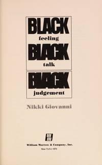 Black Feeling, Black Talk, Black Judgement