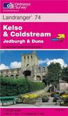 image of Kelso and Coldstream, Jedburgh and Duns (Landranger Maps)