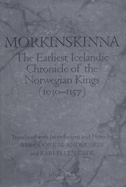 Morkinskinna The earliest Icelandic chronicle of the Norwegian kings (1030-1157)