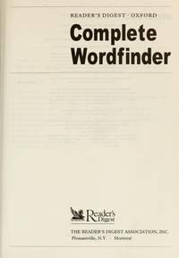 Complete Wordfinder FINE/NEW HC