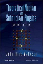 image of Theoretical Nuclear And Subnuclear Physics