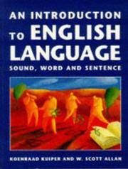 An Introduction to English Language: Sound, Word and Sentence