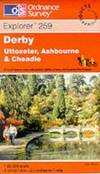 image of Derby, Uttoxeter, Ashbourne and Cheadle (Explorer Maps)