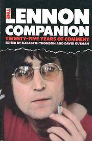 image of THE LENNON COMPANION  Twenty-five Years of Comment