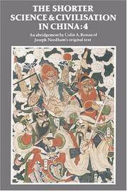 image of The Shorter Science and Civilisation in China: Volume 4