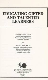 Educating Gifted and Talented Learners