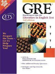Gre Practicing to Take the Literature in English Test (Practicing to Take the GRE)