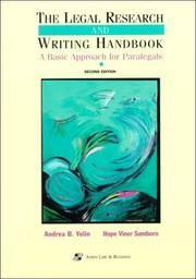 The Legal Research and Writing Handbook: a Basic Approach for Paralegals