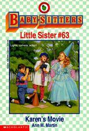 image of Karen's Movie (Baby-Sitters Little Sister, No. 63)