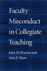 Faculty Misconduct in Collegiate Teaching