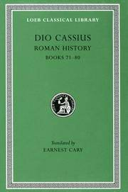 DIO'S ROMAN HISTORY Volume VIII: (Books LXXI-LXXX) by Dio Cassius; Earnest Cary & Herbert Baldwin Foster - Hardcover - 1925 - from Ancient World Books (SKU: 31840)