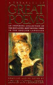 image of Treasury of Great Poems: An Inspiring Collection of the Best-Loved, Most Moving Verse in the English Language