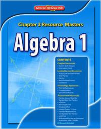 algebra 2 chapter 1 resource masters - Biblio com