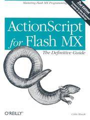 image of ActionScript for Flash MX: The Definitive Guide, Second Edition