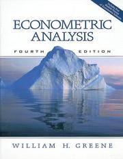 image of Econometric Analysis (4th Edition) (iceberg)