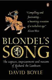 Blondel's Song by  David Boyle - Paperback - 2006 - from Zardoz Books (SKU: 21806)