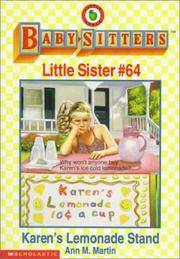 image of Karen's Lemonade Stand (Baby-Sitters Little Sister, No. 64)