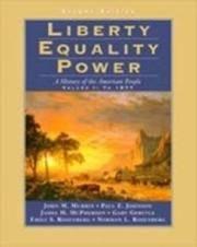 LIBERTY, EQUALITY, POWER VOL 1 2E