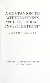 "Companion to Wittgenstein's ""Philosophical Investigations"