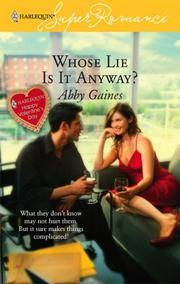 image of Whose Lie is it Anyway? (Harlequin Superromance, No 1397)