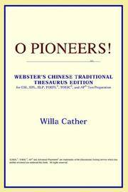 image of O Pioneers! (Webster's Chinese-Traditional Thesaurus Edition)