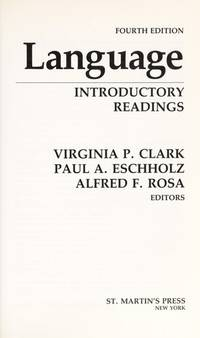 Language: Introductory Readings