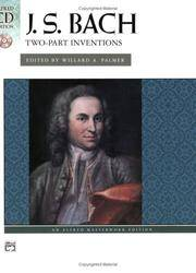 J. S. Bach: Two-Part Inventions (Book & CD) (Alfred Masterworks Edition: CD Edition)
