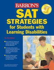 SAT STRATEGIES for Sutdents with Learning Disabilities (Barron's Sat Strategies for Students With Learning Disabilities) by  Dr Toni Welkes - Paperback - from Paper Tiger Books (SKU: 51WMEG001CW3_ns)